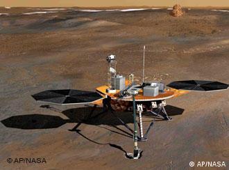 Phoenix-Sonde, Quelle: AP/NASA