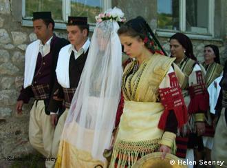 Le couple choisi cette année pour avoir l'honneur de se marier à Galichnik.