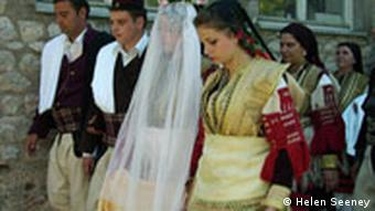 The bridal couple at the Galichnik wedding in Macedonia, July 2007.