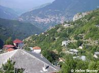 Blick auf das Dorf Galicnik, Quelle: Helen Seeney