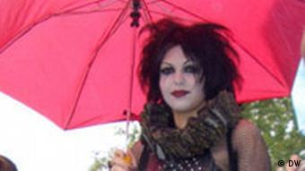 A woman appearing as a Japanese band member
