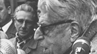 Bloch no congresso 'A grave situação da democracia', em 1966, Frankfurt