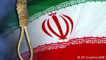 Iran Hinrichtung Symbolbild Flagge und Galgen
