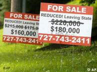 For Sale signs outside houses in the United States