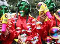 Grupo en el  carnaval de Bogotá.
