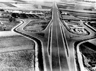 A look from above at the first German highway.