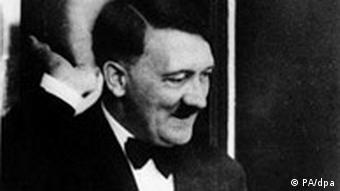 Picture of Adolf Hitler at balcony of the Festspielhaus