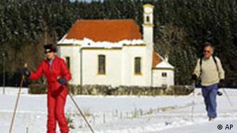 Wintersonne und Schnee