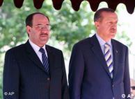 اردوغان و مالکی نخست وزیران ترکیه و عراق