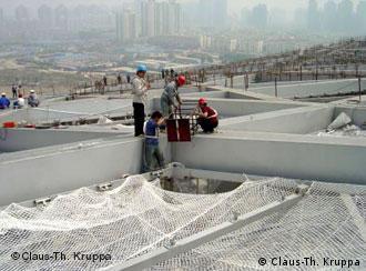 """在北京""""鸟巢""""上"""