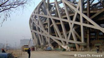 Hauptolympiastadion in Peking aus Sicht der deutschen Bedachtungsfirma