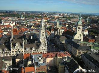 Вид на площадь Мариенплатц в Мюнхене