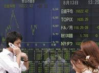 Pánico en las bolsas de valores asiáticas.
