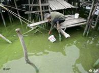 中国南方一条被污染的河流
