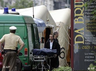 Эвакуация тел с места преступления