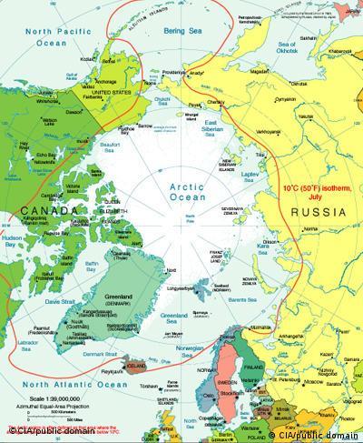 Politische Karte der Arktis freies Bildformat