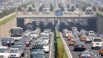 BdT China Verkehr Autoverkehr in Peking