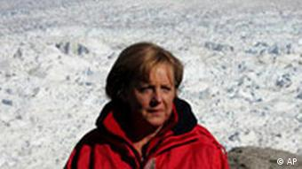 Chancellor Merkel during a visit to Greenland
