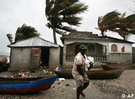 Dean a su paso por Haití.