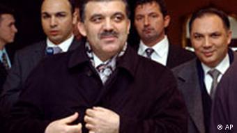 Abdullah Gül mit Delegation in Brüssel, Quelle: AP