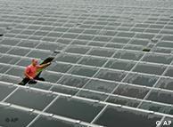 Un mar de paneles solares inunda la localidad de Brandis, en Sajonia.
