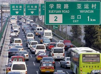 北京--车水马龙