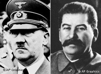Adolf Hitler and Josef Stalin