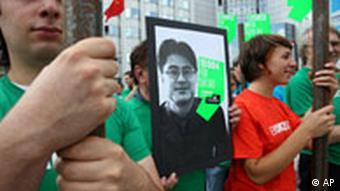 Protests in Germany for Chinese journalist Shi Tao, who was arrested for writing an e-mail about censorship