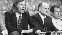 Luis Cesar Menotti (2.v.l), Fußball: Deutschland - Argentinien 2:1 (1979 in Berlin)