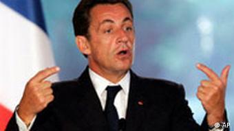 Frankreich Präsident Nicolas Sarkozy Flagge