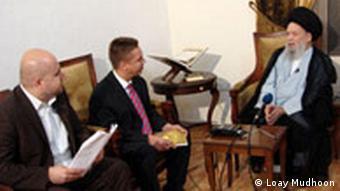 Libanon Rainer Sollich und Loay Mudhoon im Interview mit Scheich Fadlallah in Beirut