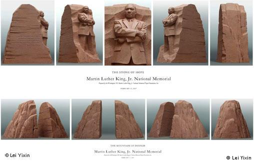 USA China Modell Martin Luther King Denkmal von Lei Yixin