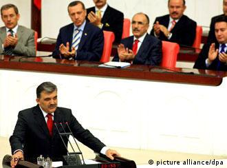 Turkey's new president Abdullah Gül at his swearing-in ceremony on Tuesday