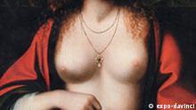 Gemälde von Leonardo Da Vinci, zu sehen auf der Ausstellung Expo Leonardo da Vinci. The European Genius. Quelle Pressebild:expo-davinci.de ***Das Pressebild darf nur in Zusammenhang mit einer Berichterstattung über die Ausstellung verwendet werden***
