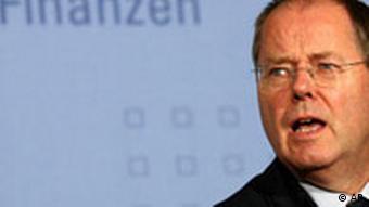 Deutschland Finanzminister Peer Steinbrück