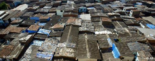 Dharavi slum in Mumbai, home to a million people