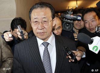 El negociador norcoreano, Kim Gye Gwan, en Ginebra.