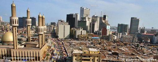 View of central Lagos, Nigeria