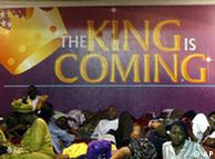 'O Rei está chegando' em Lagos, Nigéria