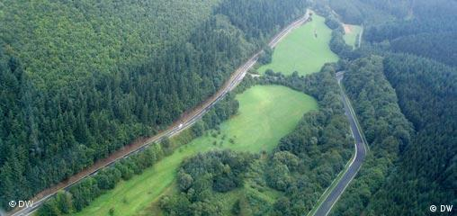 An image of the Nordschleife from above