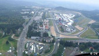 A view from above at the Nürburgring circuits