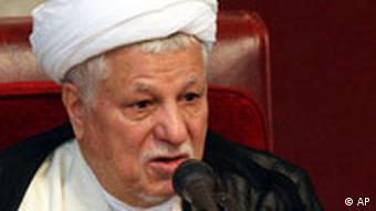 اکبر هاشمی رفسنجانی، رئیس مجلس خبرگان. موضعگیری او در قبال بحران اخیر با حساسیت دنبال میشود