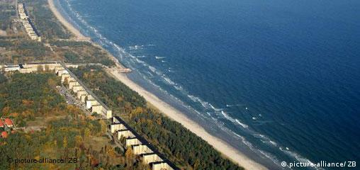 Nazi-built vacation site in Prora on the Ruegen island