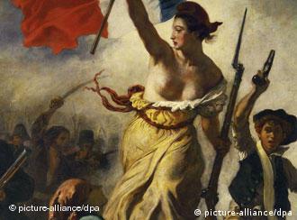 Свобода, ведущая народ. Картина Эжена Делакруа, 1830 г., Лувр.