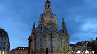 Восстановленный собор Фрауэнкирхе в Дрездене