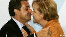Deutschland Frankreich Nikolas Sarkozy bei Angela Merkel in Schloss Meseberg