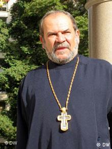 Le père Jean Gueit, archiprêtre de la cathédrale russe de Nice.