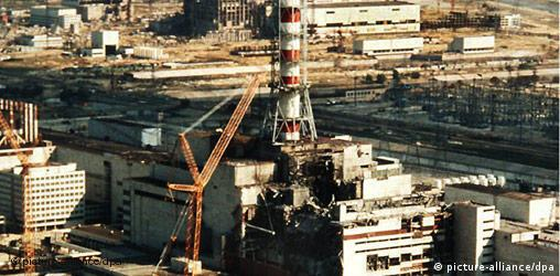 The nuclear plant in Chernobyl in April 1996