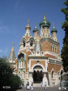 La cathédrale russe orthodoxe Saint-Nicolas de Nice.