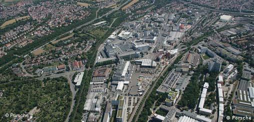 Deutschland Auto Porsche Werk Luftaufnahme Stuttgart